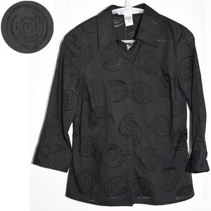 NWT Geoffrey Beene Shirt with Translucent Swirls